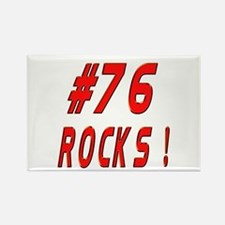 76 Rocks ! Rectangle Magnet