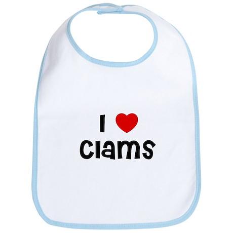 I * Clams Bib