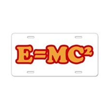 E=MC2 Aluminum License Plate