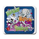 Robot Block Party Mousepad