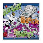 Robot Block Party Tile Coaster