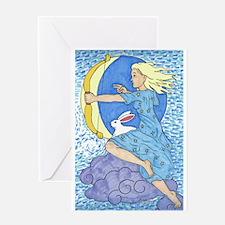 Cute Rabbit moon Greeting Card