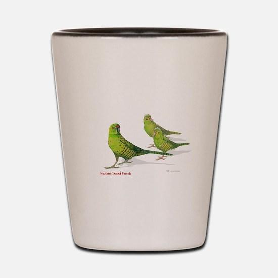 Western Ground Parrot Shot Glass