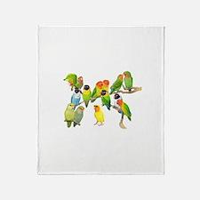 Lovebird Horde Throw Blanket