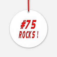 75 Rocks ! Ornament (Round)
