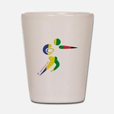 Rugby Olympic Shot Glass