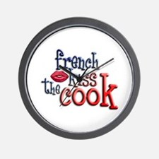 French Kiss the Cook Wall Clock