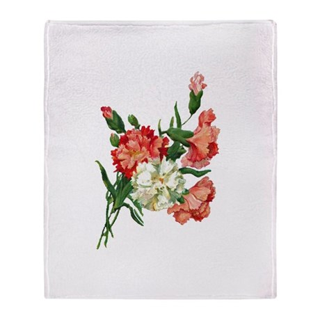 carnation Throw Blanket