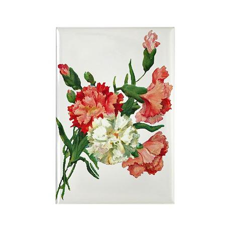 carnation Rectangle Magnet