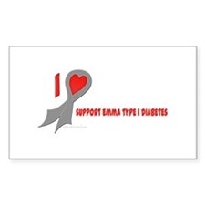 Gray I Heart/Support Support Emma Type 1 Diabetes