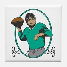 Funny Touch rugby Tile Coaster