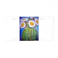 Cactus, bright, Aluminum License Plate