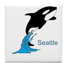 Unique Whale Tile Coaster