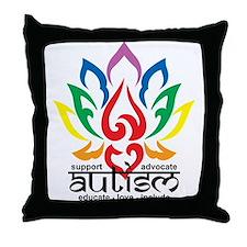 Autism Lotus Flower Throw Pillow