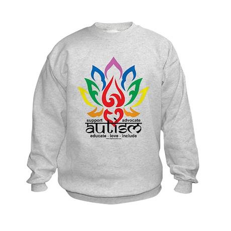 Autism Lotus Flower Kids Sweatshirt