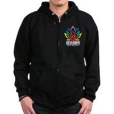 Autism Lotus Flower Zip Hoodie