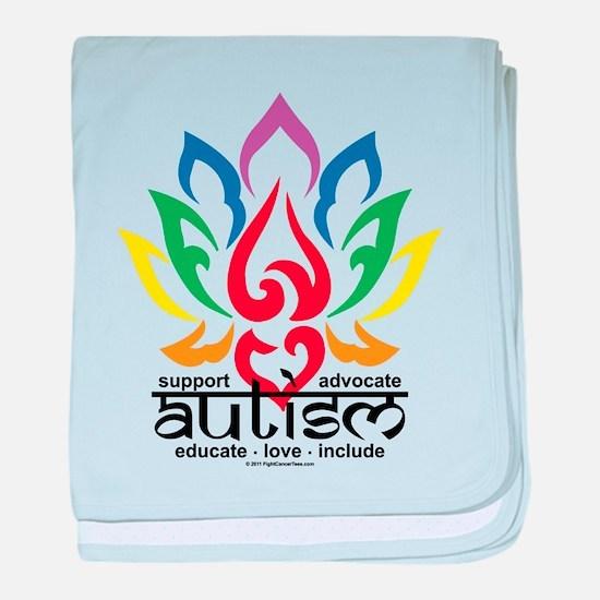 Autism Lotus Flower baby blanket