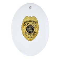 badge Ornament (Oval)