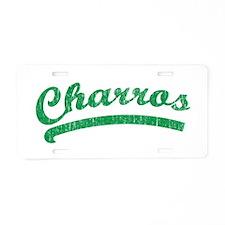 Vintage Charros Aluminum License Plate