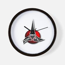 Kung fu logo Wall Clock