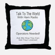 Talk To The World Ham Radio Throw Pillow