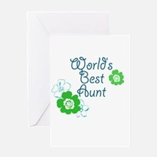 World's Best Aunt Greeting Card