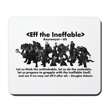 Eff the Ineffable Mousepad
