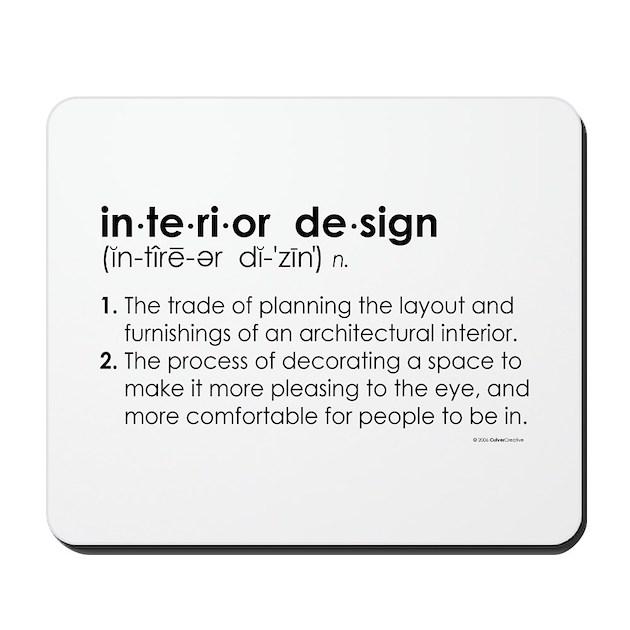 interior design definition mousepad by culvercreative