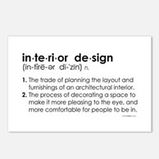 interior design DEFINITION Postcards (Package of 8