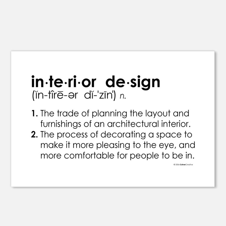 interior design DEFINITION Postcards (Package of 8