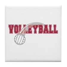 Cute Team volleyball Tile Coaster