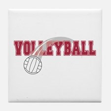 Unique Team volleyball Tile Coaster
