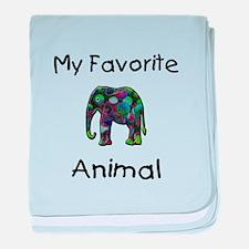 My Favorite Animal baby blanket