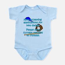 Accepting Applications - baseball (blue) Infant Bo