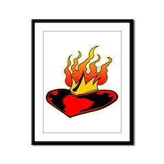 Sacred Heart Of Jesus Framed Panel Print