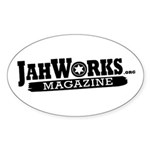Jahworks.org Magazine Stickers (Oval 10 pk)