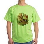 Chicken Chicks (Front) Green T-Shirt