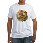 Chicken Chicks (Front) Fitted T-Shirt