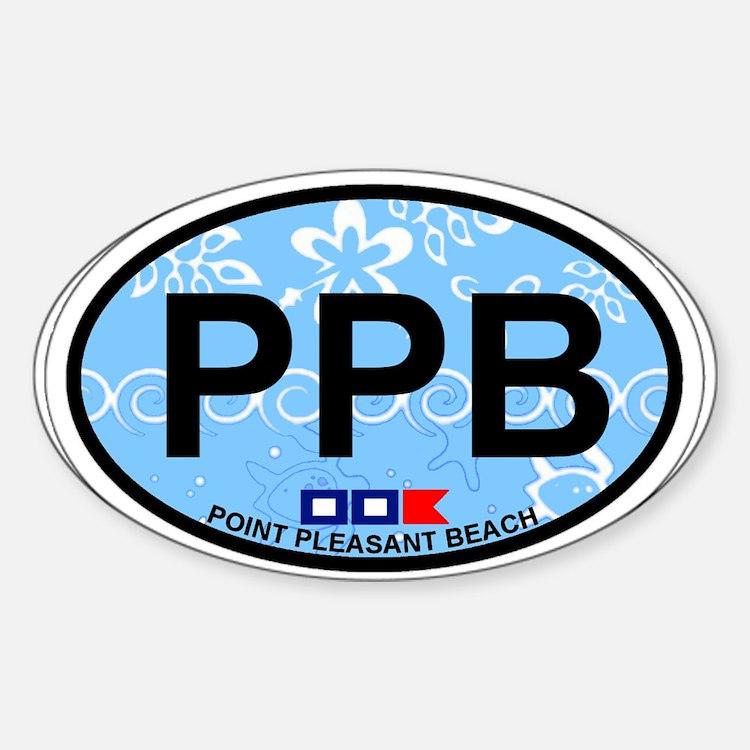 Point Pleasant Beach NJ - Oval Design Decal