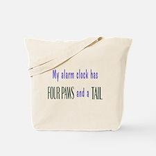 Cute Pet Alarm Clock Tote Bag
