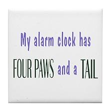 Cute Pet Alarm Clock Tile Coaster
