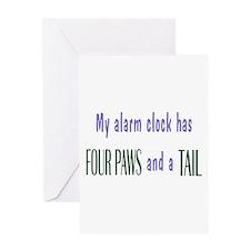 Cute Pet Alarm Clock Greeting Card
