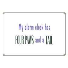 Cute Pet Alarm Clock Banner