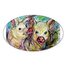 Pigs, colorful, Decal