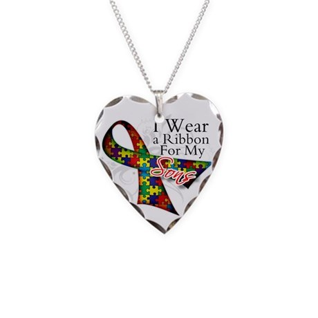 For My Sons - Autism Necklace Heart Charm