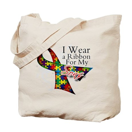 For My Sons - Autism Tote Bag