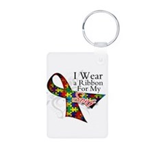 For My Sons - Autism Aluminum Photo Keychain