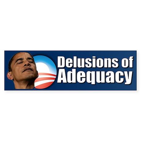 Delusions of Adequacy Sticker (Bumper)
