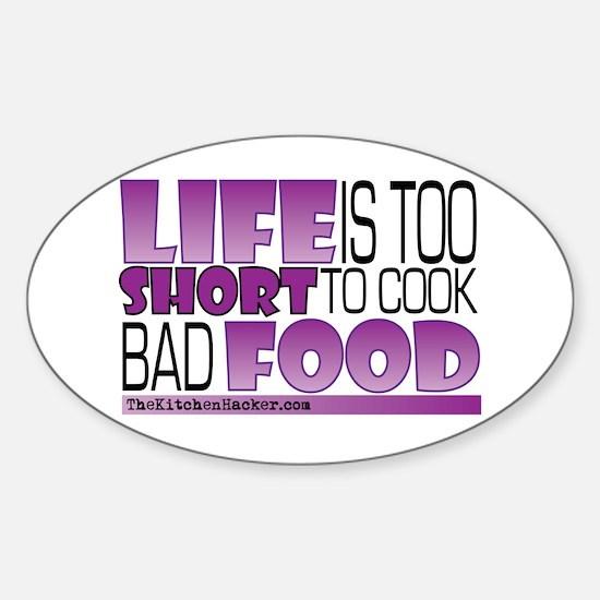 Cute Culinary Sticker (Oval)