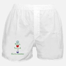 Peace, Love, & Cloth Diapers Boxer Shorts